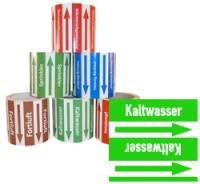 Rohrleitungsband Kaltwasser grün/weiss 100 mm x 10 m