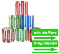 Rohrleitungsband enthärtetes Wasser grün/weiss 100 mm x 10 m