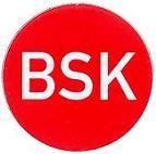 Etikett BSK d=40mm