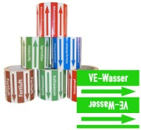Rohrleitungsband VE-Wasser grün/weiss 100 mm x 10 m