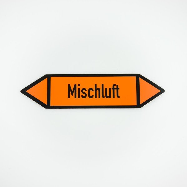 Richtungspfeil Mischluft orange/schwarz