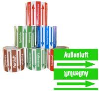 Rohrleitungsband Außenluft grün/weiss 100 mm x 10 m
