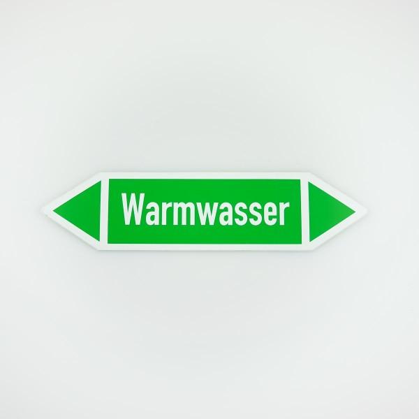 Richtungspfeil Warmwasser grün/weiss