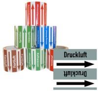 Rohrleitungsband Druckluft grau/schwarz 100 mm x 10 m