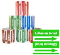 Rohrleitungsband Kühlwasser Vorlauf grün/weiss 100 mm x 10 m